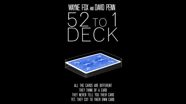 The 52 to 1 Deck Blue - magischer-anzeiger.de